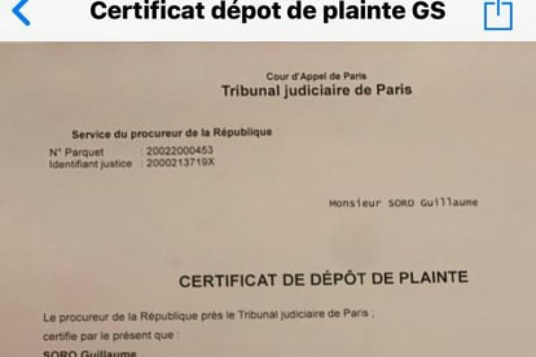 Guillaume soro a déposé une plainte contre Adou Richard à Paris