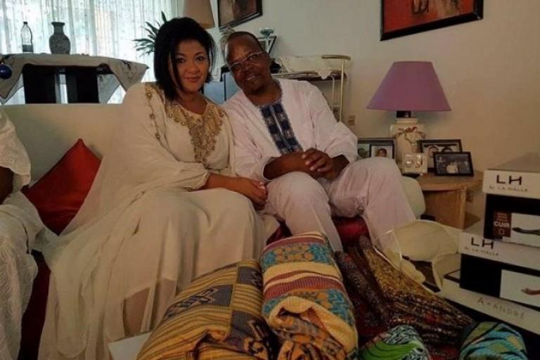 Alain Lobognon et son épouse Amira