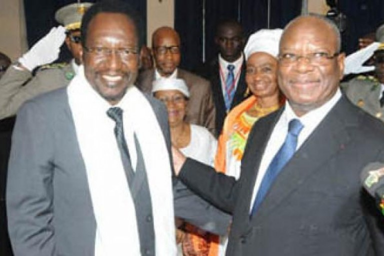 Dioncounda Traoré et le président IBK