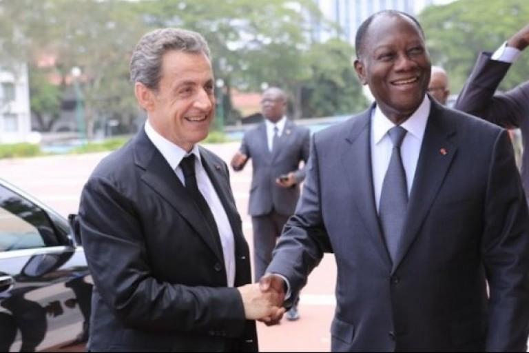Nicolas Sarkozy et Alassane Ouattara