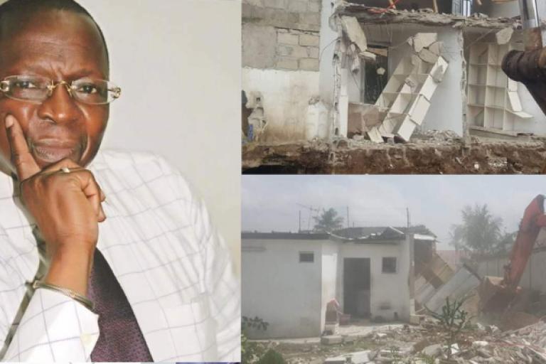 Bamba Alex évalue les dégâts causés sur sa résidence à 85 millions FCFA