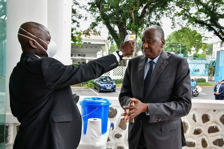 Amadou Gon Coulibaly, en plein test du Coronavirus