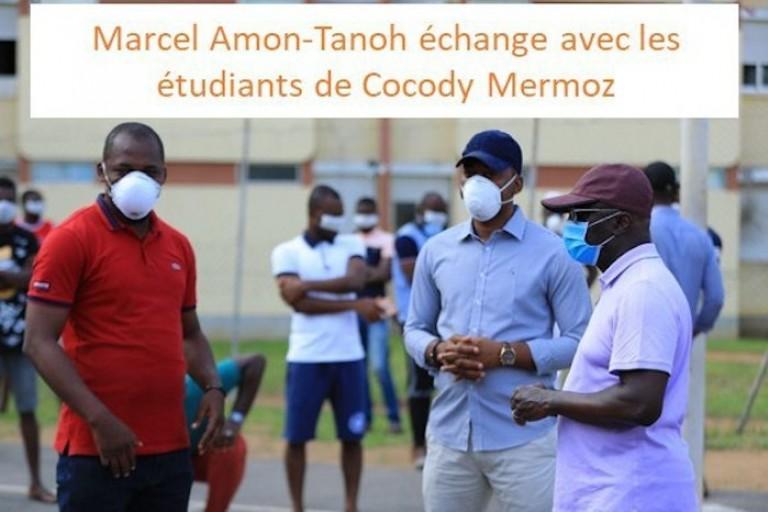 Amon Tanoh en visite au campus