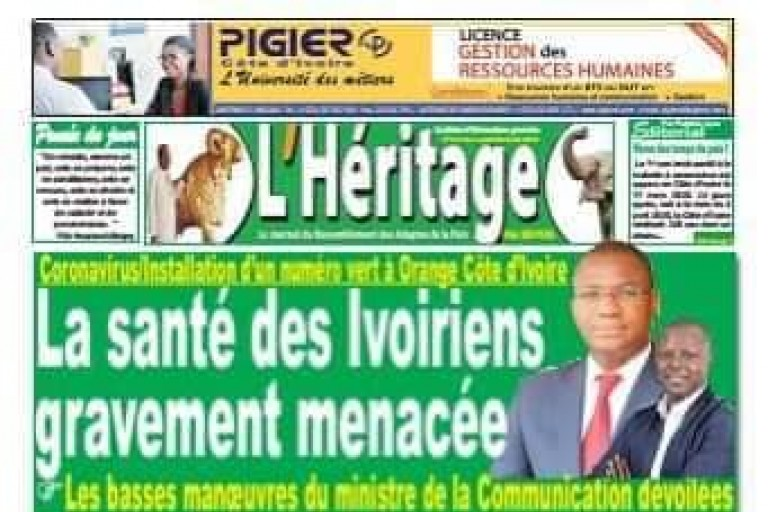 Titrologie ou revue de la  presse ivoirienne du lundi 6 avril  2020