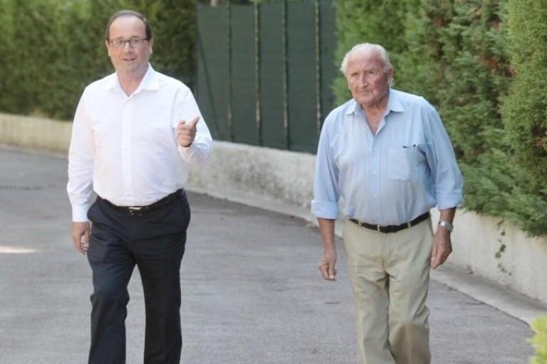 François Hollande rend hommage à son père