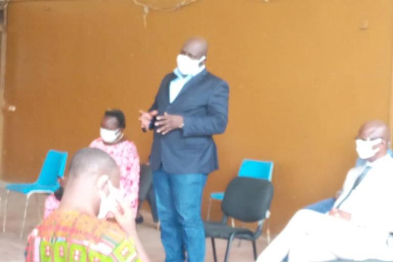Covid-19 : Thomas Noba et la NCC font des dons à l'Institut des aveugles