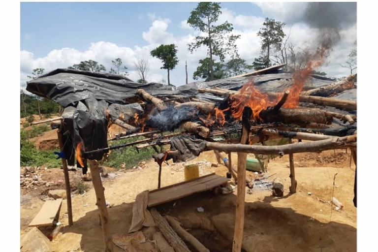 Orpaillage clandestin, la gendarmerie détruit pluisieurs sites