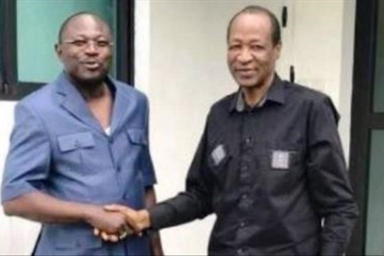 Eddie Komboïgo et Blaise Compaoré