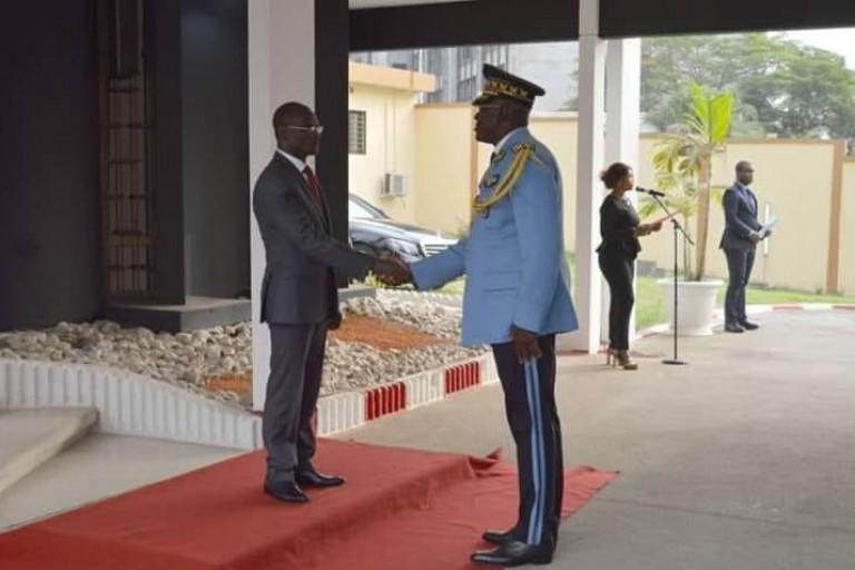 Le ministre de la Sécurité Diomandé Vagondo et le DG de la police Youssouf Kouyaté