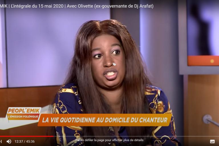 Olivette, ex-gouvernante de Dj Arafat: