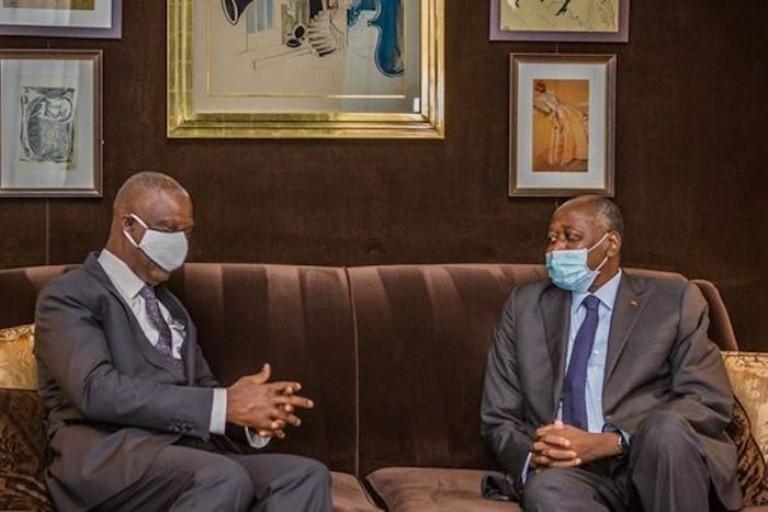 Maurice Bandaman et Amadou Gon Coulibaly à Paris