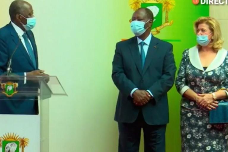 Amadou Gon Coulibaly, Alassane et Dominique Ouattara