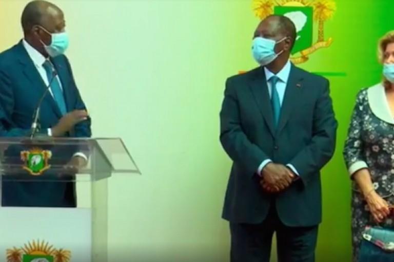 Amadou Gon Coulibaly accueilli par Ouattara et Dominique
