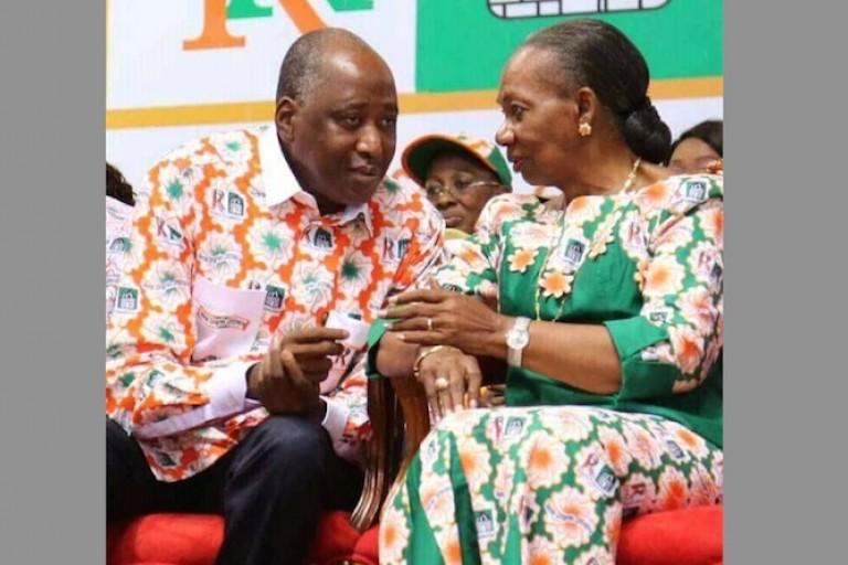 Amadou Gon et Henriette Dagri Diabaté