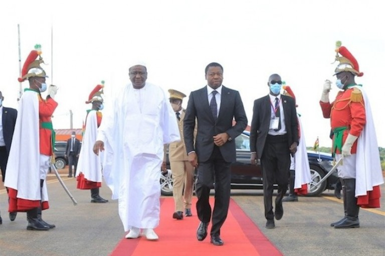 Hamed Bakayoko accueille Faure Gnassingbé à Korhogo