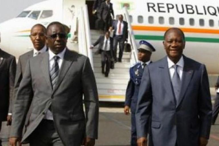Alassane Ouattara, Macky Sall et Mahamadou Issoufou en pompiers à Bamako