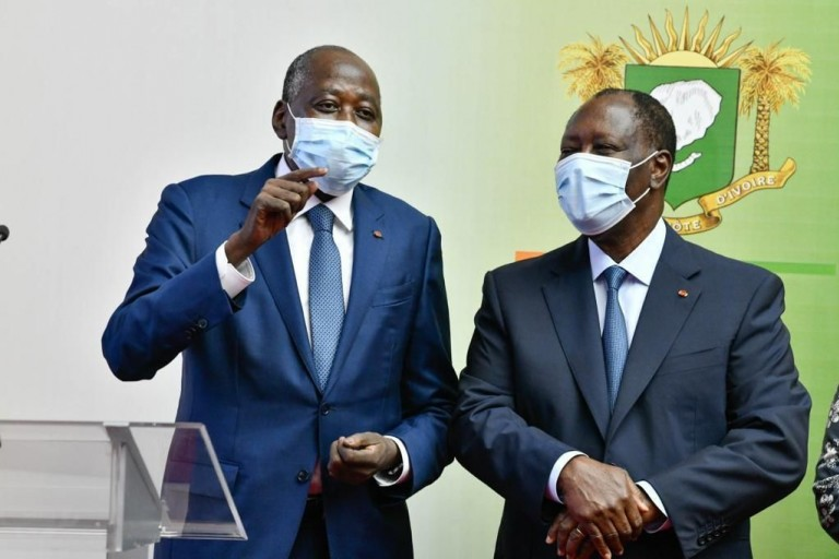 Alassane Ouattara et Gon Coulibaly