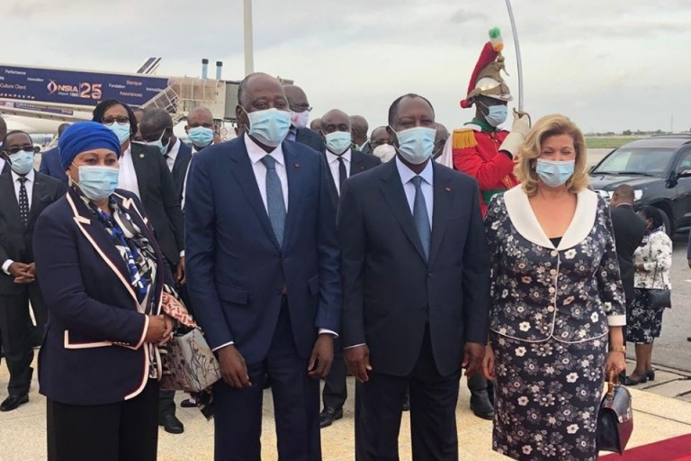Accueil chaleureuse  pour Amadou Gon, ce jeudi à l'aéroport d'Abidjan