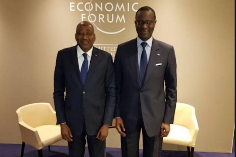 Amadou Gon Coulibaly et son ancien Patron Tidjane Thiam