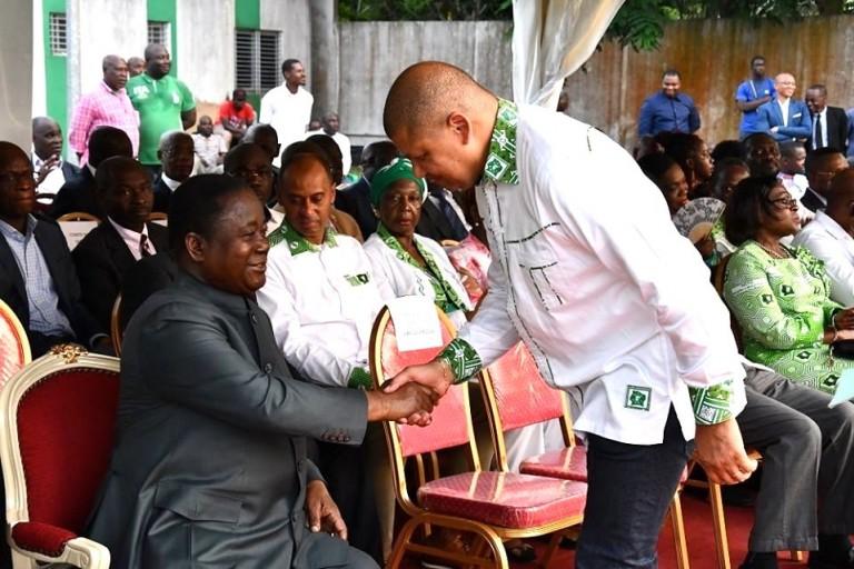 Henri Konan Bédié et Jean-Louis Billon