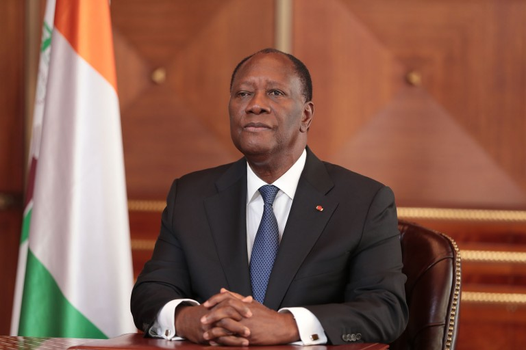 Alassane Ouattara, investi candidat du RHDP à Yamoussoukro