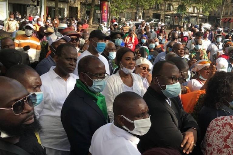 Affoussiata Bamba marche contre le 3e mandat de Ouattara
