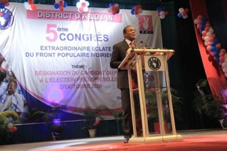 Pascal Affi N'Guessan, candidat du FPI