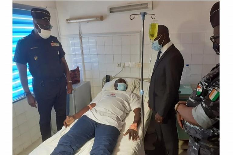 Le commissaire de Bonoua visité par Vagondo
