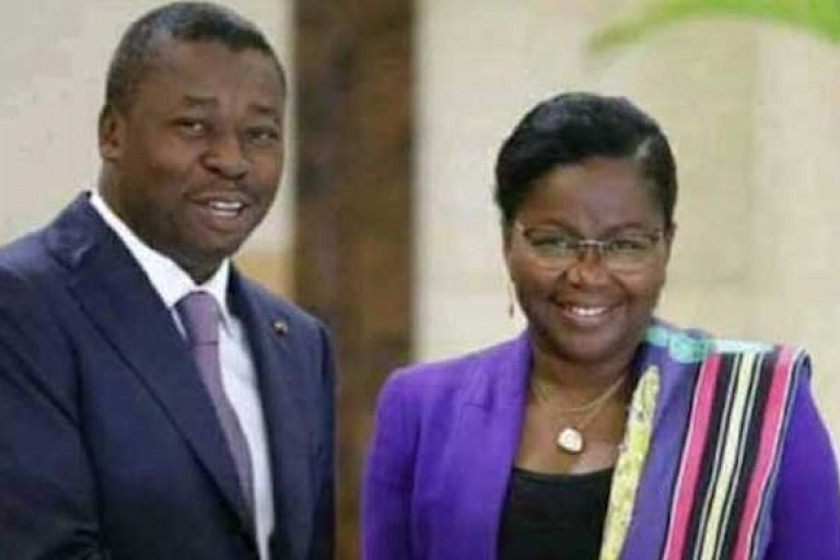 Le Président Faure Gnassingbé et son PM Victoire Dogbé