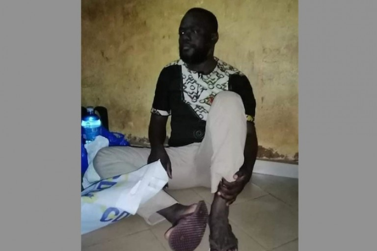 Koua Justin en prison à Korhogo