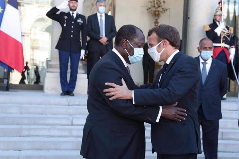 Emmanuel Macron et Alassane Ouattara à l'Elysée