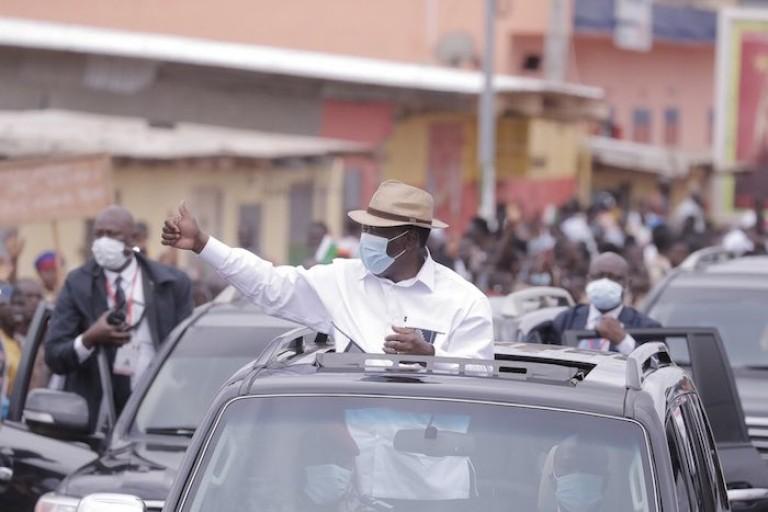 Alassane Ouattara en campagne pour l'élection présidentielle
