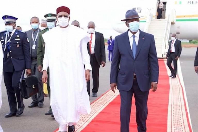 Alassane Ouattara et Mahamadou Issoufou pour le sommet de la CEDEAO