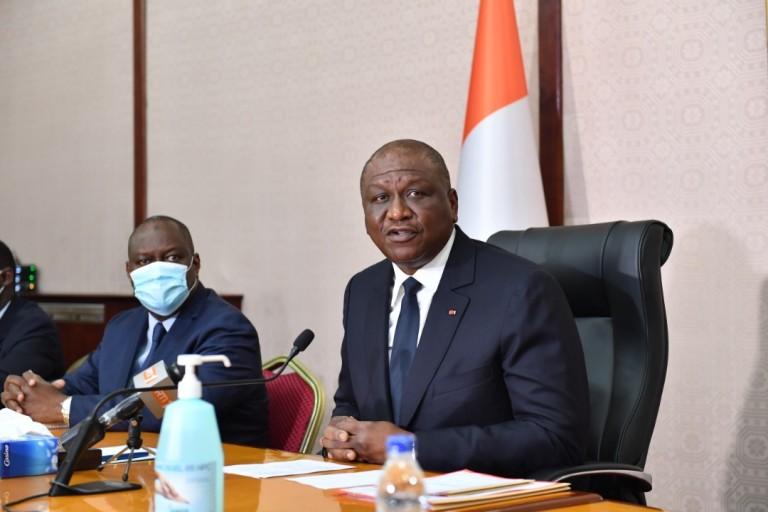 Hamed Bakayoko, Premier ministre ivoirien, échange avec le secteur privé