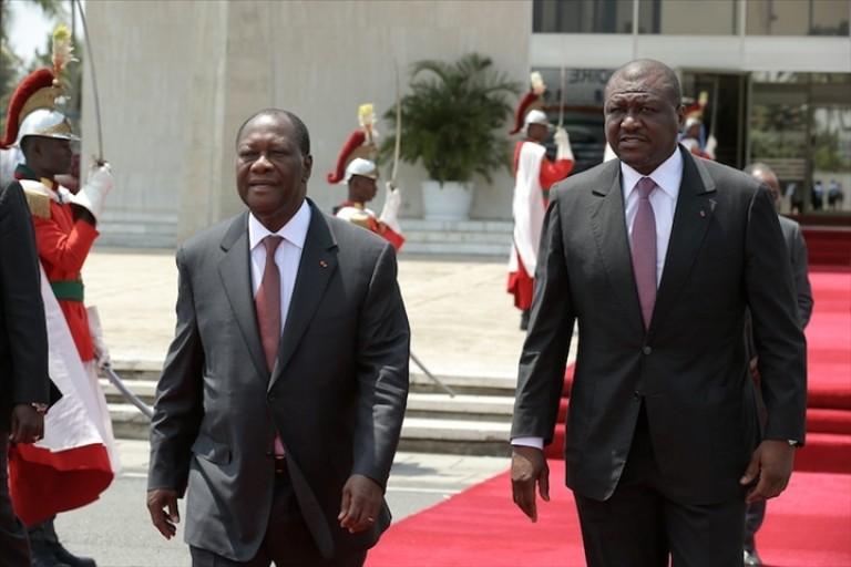 Hamed Bakayoko et le patron du RHDP, Alassane Ouattara