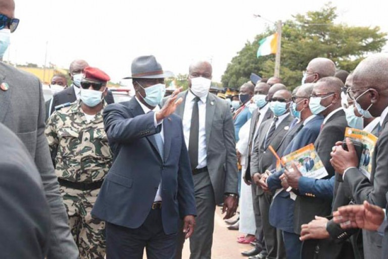 Alassane Ouattara en visite d'Etat dans la Marahoué