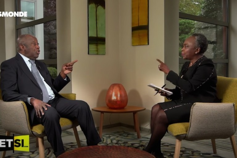Laurent Gbagbo, ancien Président ivoirien, et Denise Epoté sur TV5