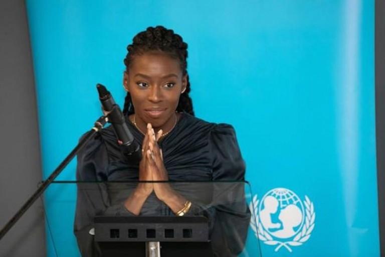 Murielle Ahouré, Ambassadrice nationale par l'Unicef Côte d'Ivoire
