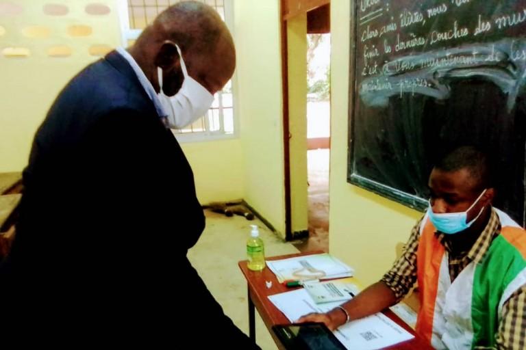 Election présidentielle : Thomas Noba, président NCC a voté à Cocody