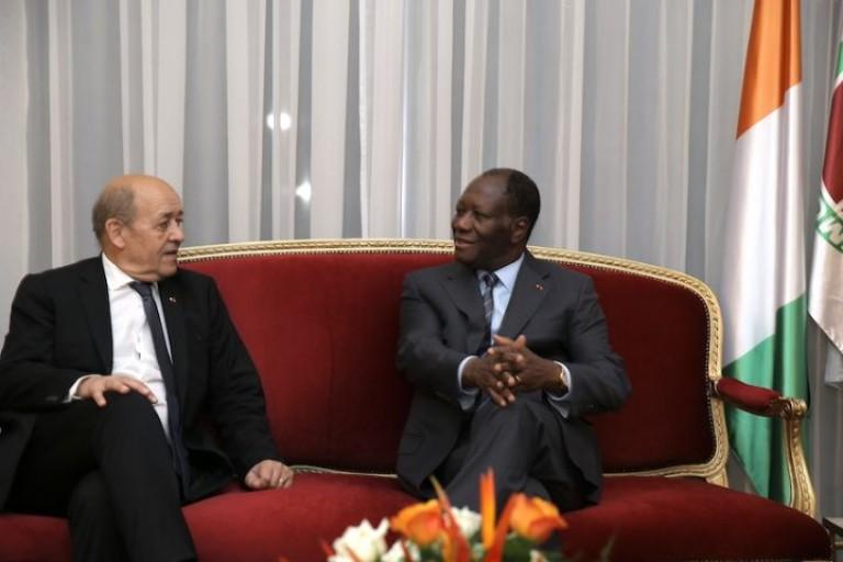 Jean Yves Le Drian parle du 3e mandat d' Alassane Ouattara