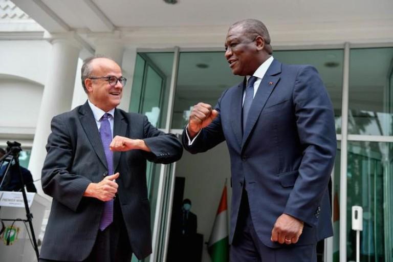 Hamed Bakayoko et l'ambassadeur français se sont rencontrés