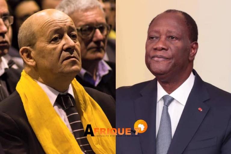 Jean-Yves Le Drian, voici les questions qu'il abordera avec Alassane Ouattara