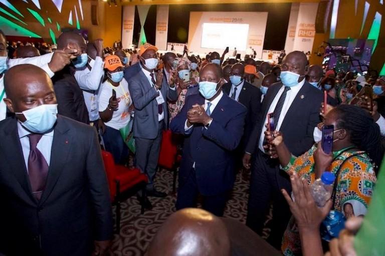 Grosse colère au RHDP après l'élection du président Ouattara, la raison
