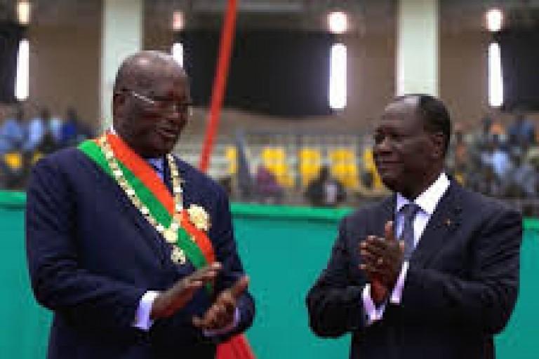 Burkina Faso: Ouattara aux côtés de son hologue burkinabé