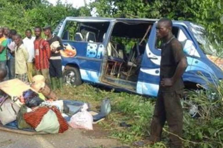 Côte d'Ivoire : Un tragique accident fait au moins 9 morts à  Koun-Fao :