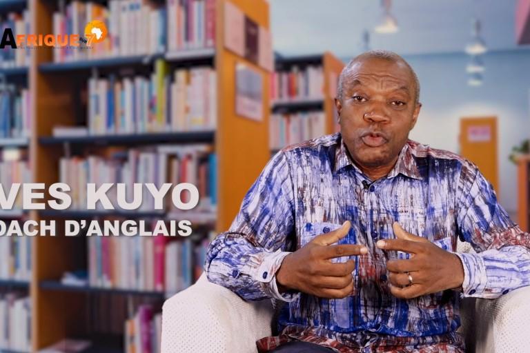 coach Yves Kuyo, prof d'anglais sur le plateau de afrique-sur7.fr