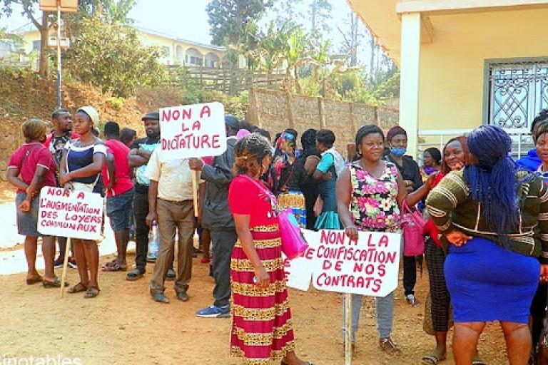 Cameroun : Des commerçants protestent contre le prix des magasins