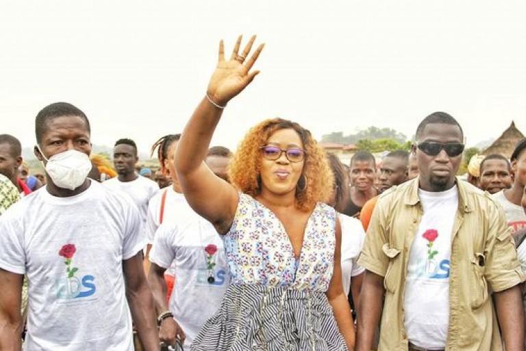 Désirée Douaty, président de l'Association des femmes et familles des détenus d'opinion