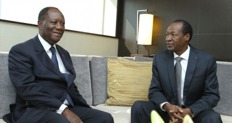 Alassane Ouattara chez Blaise Compaoré, black-out total sur cette visite