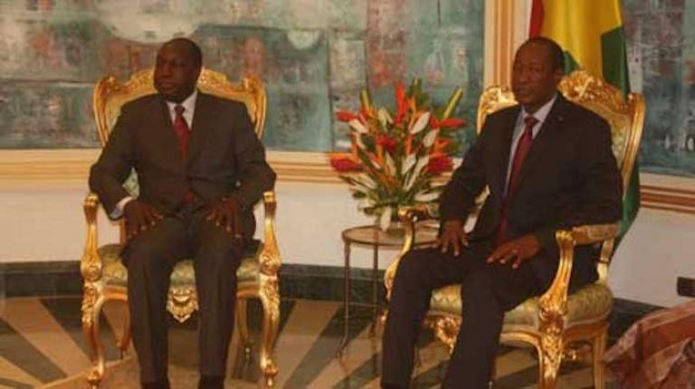 Blaise Compaoré reçoit Zéphirin Diabré en audience à Abidjan